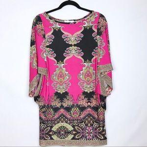 Joseph Ribkoff | Women's Pink and Black Tunic S 10